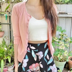 Pink cardigan S
